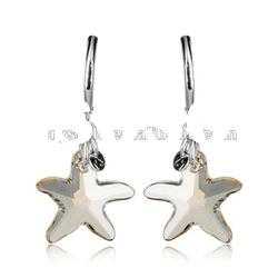 starfish crystals earrings, fashion jewelry earring made with swarovski earring