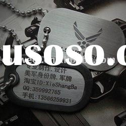sterling silver dog tag for military promotional gift