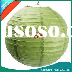 "10"" Paper Lantern For Wedding Party Decoration Green"