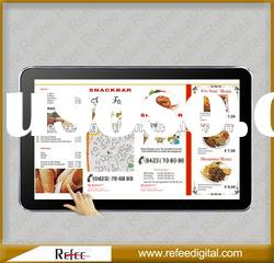 15 inch Restaurant Network Advertising Displayer with Touch Screen