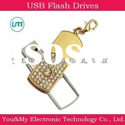 1-16GB Diamond crystal gift Flash memory Jewelry usb drives