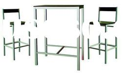 1+2 set Bar Furniture MDF bar table and chair