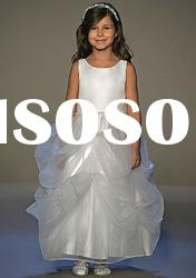 2012 Fashion Organza A-line Ankle Length Flower Girl Dresses
