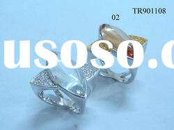 2012 hot sale Simplicity oval gemstone 925 sterling silver rings TR901108