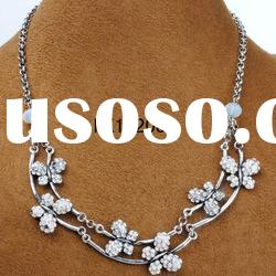 2013 fashion jewelry fantasy necklace silver with rhinestone