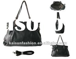 21012 new two purples black fashion handbag with pu leather for lady &shoulder bag