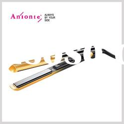 2 in 1 hair straightener/curling iron with MCH heating