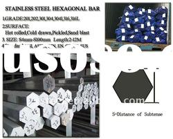 316 (0Cr17Ni12Mo2)stainless steel hot rolled Pickling hexagonal bar