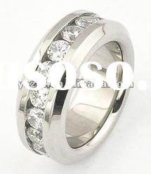 316 newly-designed stainless steel ring with CZ stone