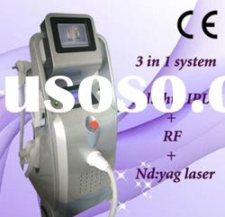 3 in 1 Yag Laser Tattoo E-light IPL hair removal Cool RF equipment