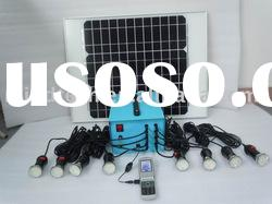 40W solar lighting system for 8pcs bulb with 9-10 hours lighting time