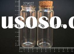 65ml Cylinder glass bottle with cork