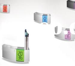 7 Color changing alarm clock with pen holder ZD108
