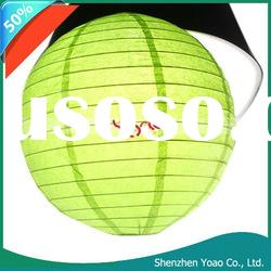 "8"" Light Green Chinese Paper Lantern"