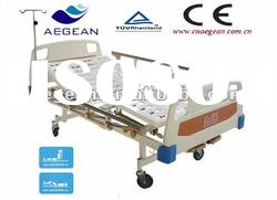 AG-BMS101A furniture manual hospital bed with iv stand