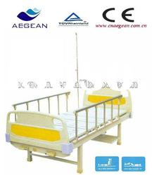 AG-BMS114 2-function manual hospital bed with iv stand