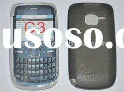 Cell phone protection case TPU Net Hole Water Case For Nokia C3