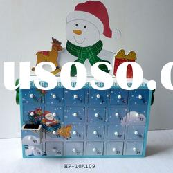 Christmas Snowman Wooden House Advent Calendar