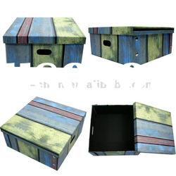 Colorful Pattern Foldable Cardboard Box for Storage