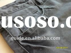 Cotton Polyester Olive green overdye soft jeans fabric