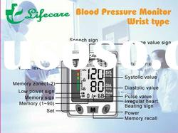 Digital blood pressure monitor wrist