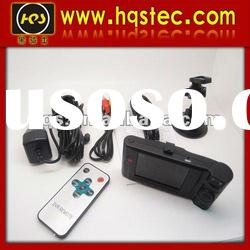 Dual camera for car with remote control and night vision function