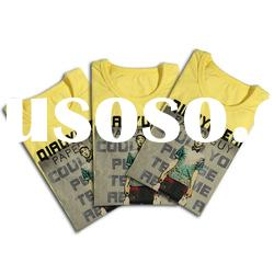 Fashion 100% cotton fabric t shirt