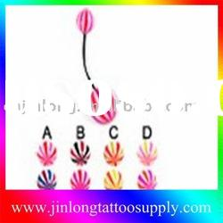 Fashion UV plug body jewelry(navel piercing jewelry)