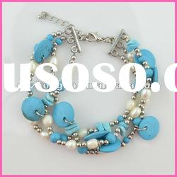 Fashion jewelry cool summer pearl alloy friendship bracelet bangle