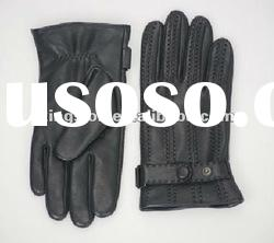 Fashion men's leather gloves