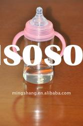 High borosilicate baby glass feeding bottles