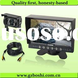 "High quality-7"" video camera security system with three video inputs"