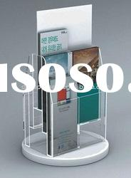 High quality clear acrylic brochure holder with several compartments