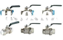 High quality nickel plated PPR ball valve