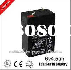 Hot electric equipment used 6v 4.5ah rechargeable battery