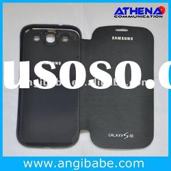 Hot selling flip battery back covers for for samsung galaxy s3 i9300 case