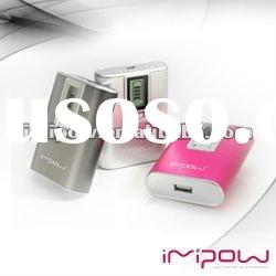 IMIPOW Universal portable power bank external usb battery charger for Ipad2 / Iphone 4 5600mAh