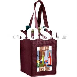 Ideal sizes and logoes,non-woven wine bottle tote ODH499