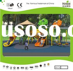 KIDS like LLDPE & PVC coated outdoor playground equipment/park playground