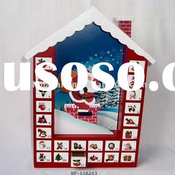 Newest Wooden Christmas House Advent Calendar