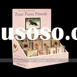 Paper cardboard counter top POP display with LCD video player