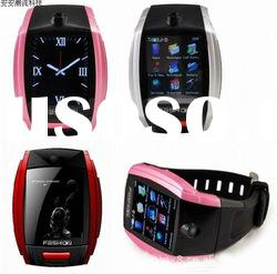 "S9110 1.8"" Touch Screen Wrist Watch Style Quadband GSM Cell Phone w/ FM - Black"