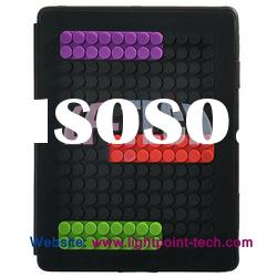 Shenzhen 3D Dots Book soft silicone for ipad 2 rubber case