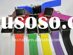 Silicone LED watch with top quality and best price