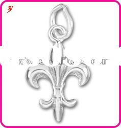 Sterling Silver Fleur de Lis Small Charms for DIY jewelry