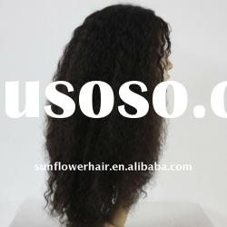 Top quality kinky curly indian remy hair full lace wig