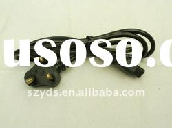 UK ac cord for laptop charger/ac power cord cable used to laptop adapter