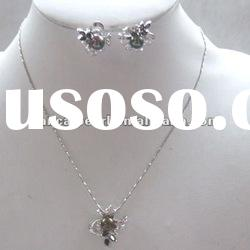 """Wholesale charming 925 sterling silver necklace chians&earrings 17"""" mini123"""