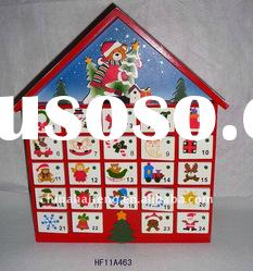 Wooden House Advent Calendar for Christmas Decoration