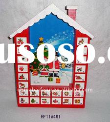 Wooden House Advent Calendar for Christmas Gift